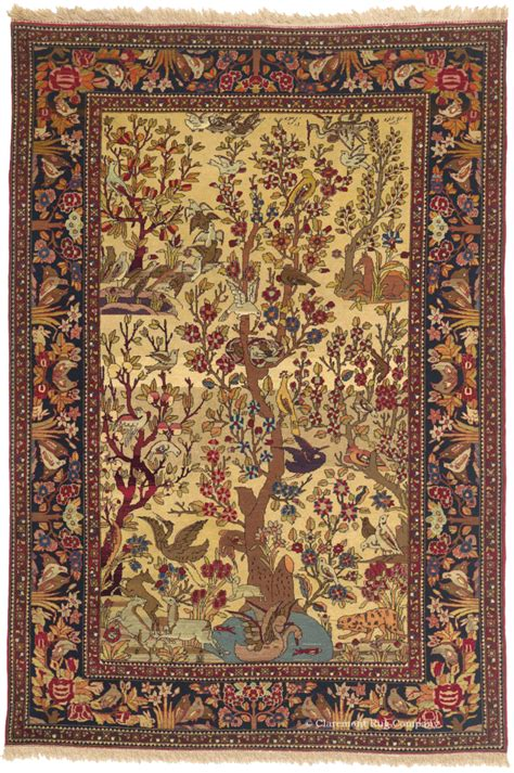 10 To Live By Rug by Antique Tehran Tree Of Rug