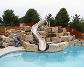 Backyard Aqua Designs Pool Slides For Inground Pools Swimming Pools Photos