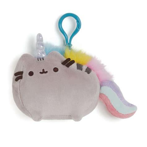 New Keychain Plush Pusheen Candycorn pusheen the cat pusheenicorn clip on backpack plush gund
