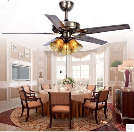 dining room ceiling fans with lights 52inch fan light with remote iron leaf ceiling fan