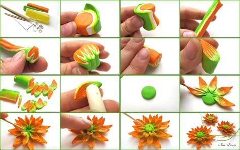 diy beautiful how to make clay flowers for kids www pixshark com
