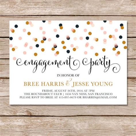 modern engagement party invitation engagement party