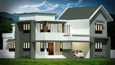 kerala home design 1800 sq ft 1800 square feet double floor contemporary home design