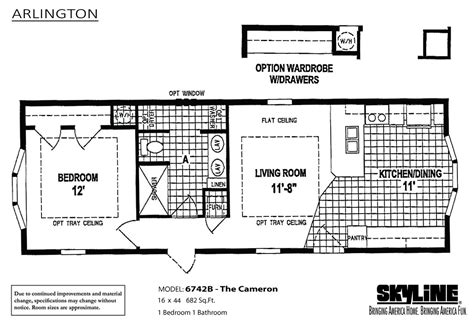 skyline manufactured homes floor plans arlington 6742b the cameron by skyline homes