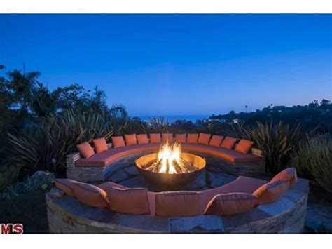 cool backyard fire pits fire features heat up outdoor spaces