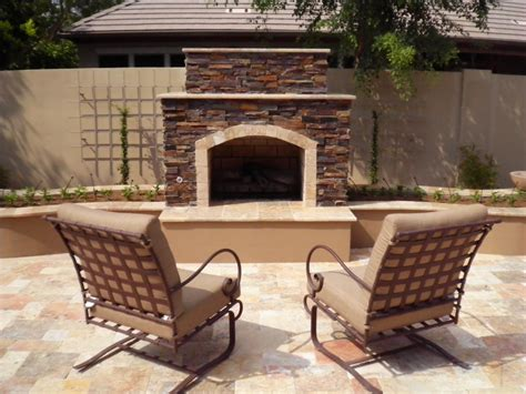 Az Fireplaces by Cozy Up Outdoor Fireplaces In Arizona Landscape Designs