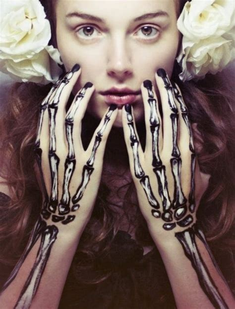 hand tattoo makeup skeleton hands costume special effects makeup