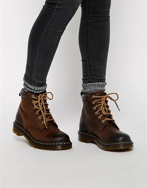 Dr Martin Brown dr martens 939 brown hiking boots in brown lyst