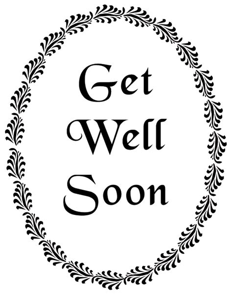 printable get well soon card templates get well soon printable printables cards