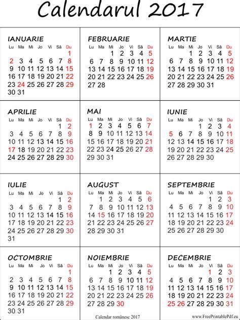 Calendar 2018 Ro Imprimare Calendar Pentru 2017 Fișierele Pdf Gratuite