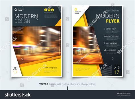 Yellow Modern Flyer Design Corporate Business Stock Vector 459814009 Shutterstock Modern Flyer Template
