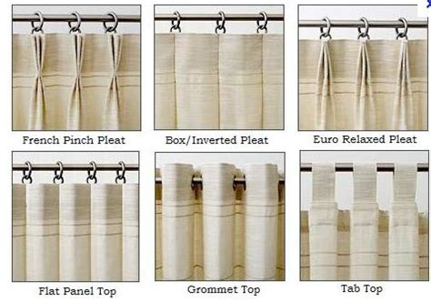 types of curtain headings drapery headings pinterest euro curtains and french