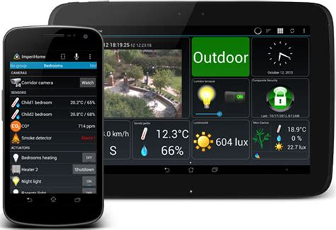 imperihome android app for home automation home