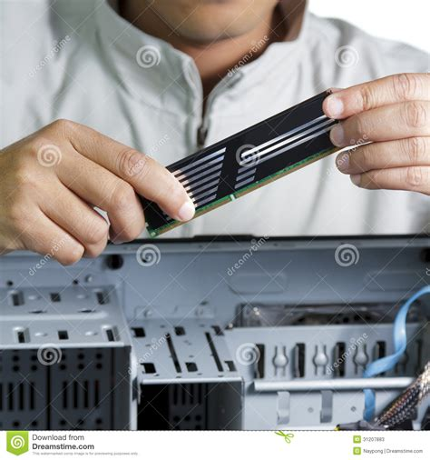 Hardware Technician by Technician Repairing Computer Hardware Stock Photos Image 31207883