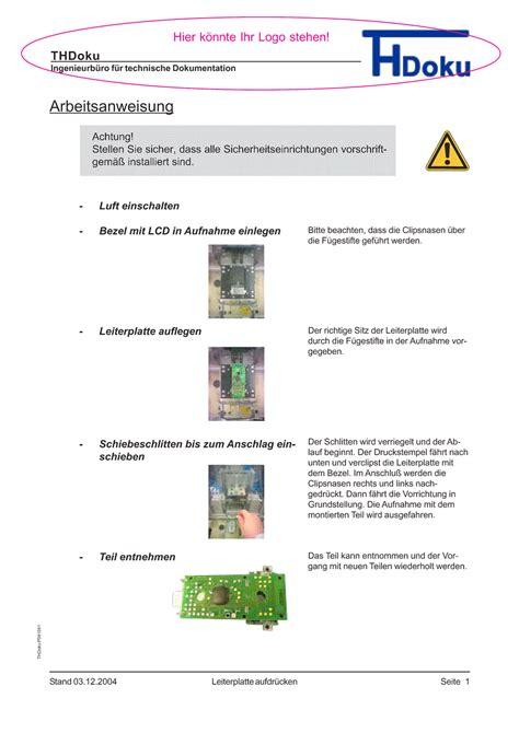 Word Vorlage Arbeitsanweisung Read Book Vorlage Arbeitsanweisung Muster Anleitung Zur