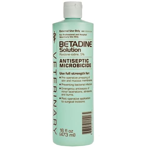 betadine for dogs betadine solution 16 oz