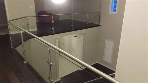 Chrome Banister Rails by Glasspros Ca Residential Custom Railings