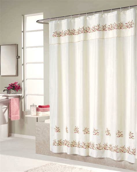 voile shower curtain heather embroidered voile shower curtain and window curtain