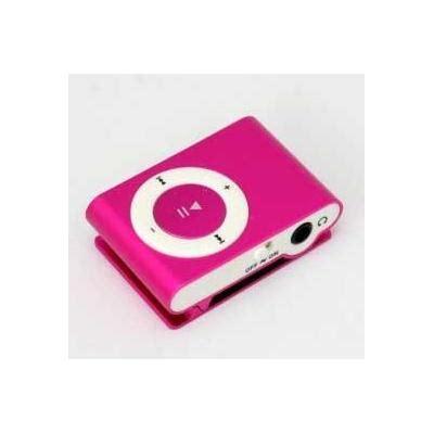 color mp3 mini reproductor mp3 con enganche de clip color rosa