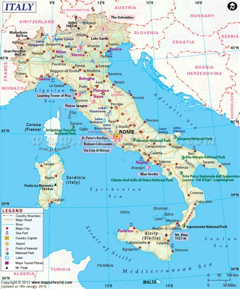 maps of italy italy travel guide travel map of italy