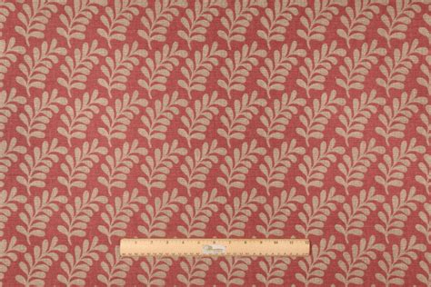 red drapery fabric waverly palm coor printed cotton drapery fabric in red