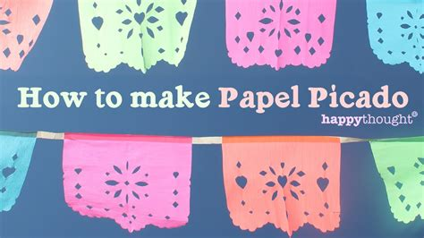 How To Make Mexican Paper Banners - how to make papel picado for day of the dead dia de los