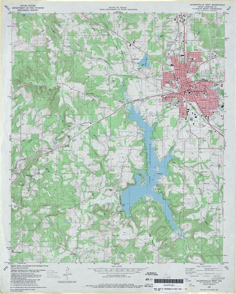 map of jacksonville texas texas topographic maps perry casta 241 eda map collection ut library