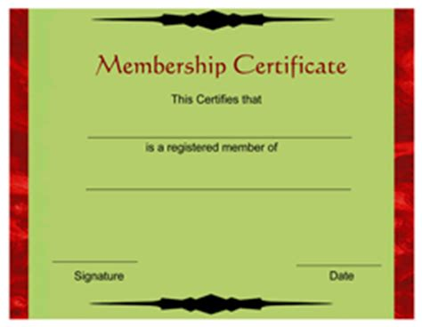 free membership certificate template free membership certificate template