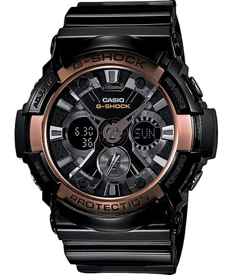 g shock ga200 black gold g shock ga200rg 1a x large black gold at