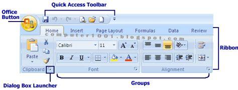 100 Cara Mengenali Karakter mengenali layar kerja microsoft excel 2007 computer 1001