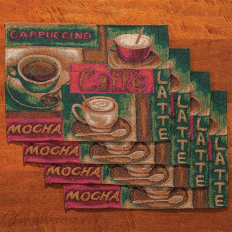 coffee placemats set of 4 table mats table placemats