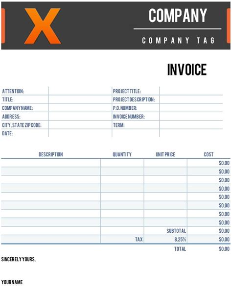 templates for free x invoice template for numbers free iwork templates
