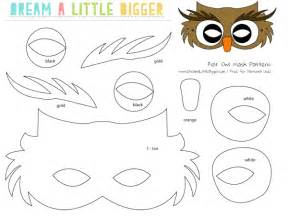 Owl Mask Template by Felt Owl Mask Free Pattern A Bigger