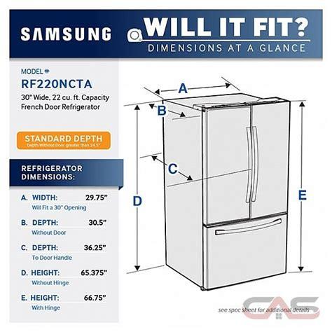 Standard Height Of Kitchen Cabinet by Samsung Rf220nctasr Refrigerator Canada Best Price