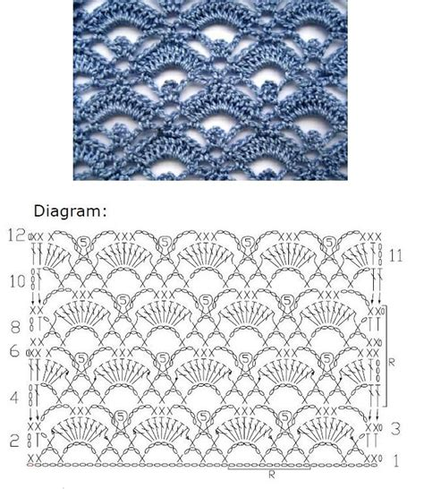 crochet lace diagram crochet lace stitch nr 2006 mypicot free crochet