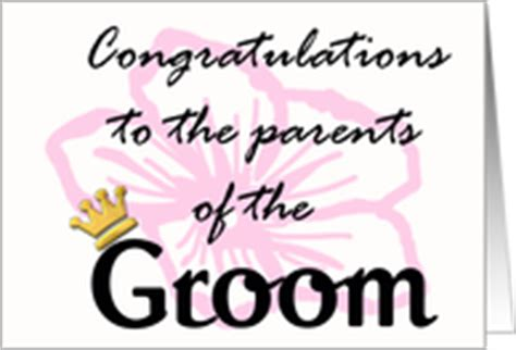 Wedding Congratulations To Groom S Parents by Wedding Cards For Parents Of The Groom From Greeting Card
