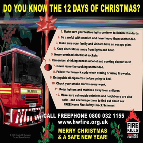 12 Days Of Decorations Uk by Hereford And Worcester Features Safety