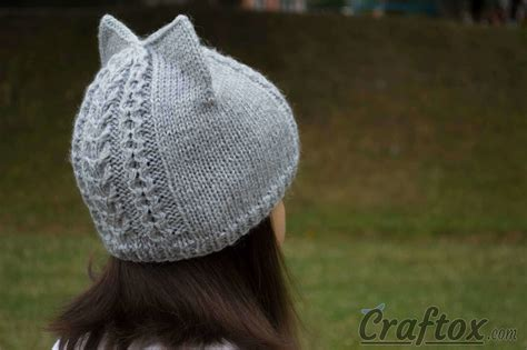 cat ear knit hat pattern knit cat ear hat free pattern