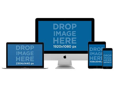 imac macbook pro ipad mini  iphone mockup   png