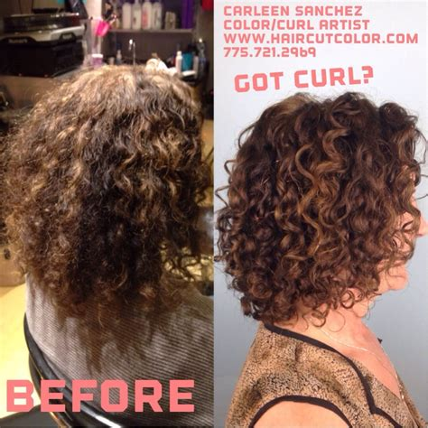 before and after curly hair artistry haircut makeover by