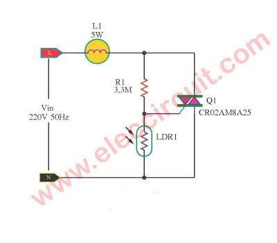 automatic light on off circuit automatic light dimmer circuit eleccircuit com