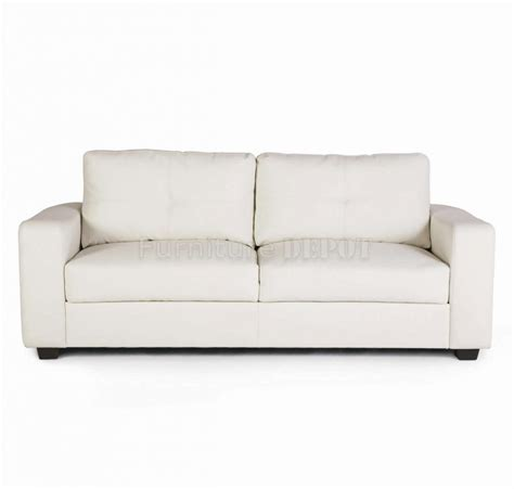 impressive white bonded leather sofa 3 white leather