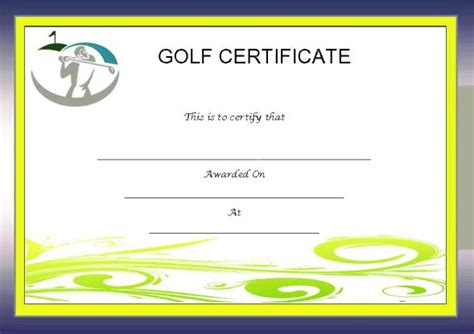 golf certificate templates adorable golf certificates for professional players free
