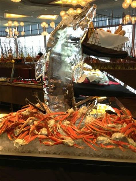 River Spirit Buffet Ice Sculpture W Crab Legs River Spirit Buffet Picture