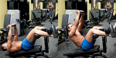 weighted bench crunch weighted decline crunch the stephane andre
