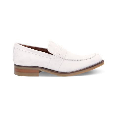 mens loafers white donald j pliner evana suede loafers in white for
