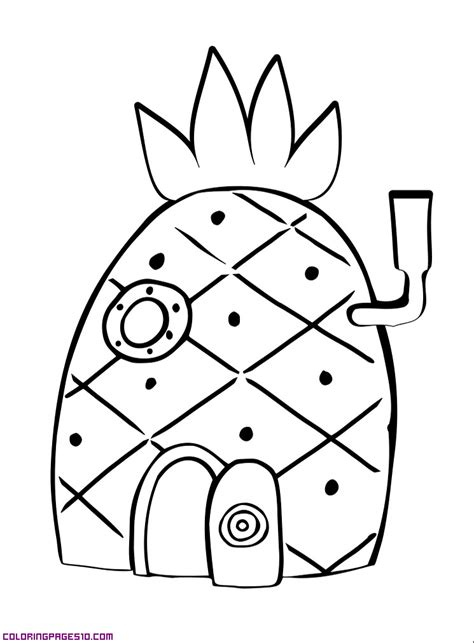 picture of a house az coloring pages