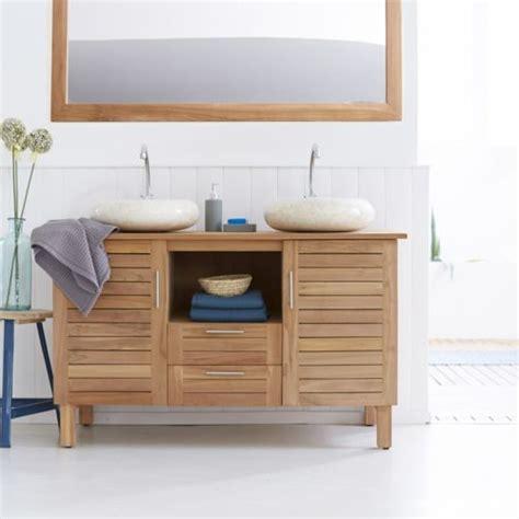 tikamoon meuble salle de bain en bois de teck 125 soho