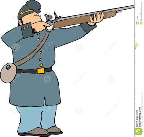 union soldier shooting rifle royalty free stock