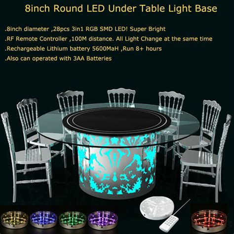 led table lights for weddings 60pcs lot rechargeable rf remote controlled multicolors